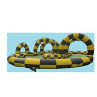 Commercial Inflatable Sports Games Racing Track , Yellow And Black Manufactures