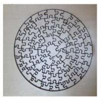 Buy cheap Puzzle die: Round-100pcs,  23.8mm thick from wholesalers
