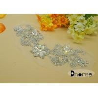 Flower Design Rhinestone Beaded Applique Manufactures