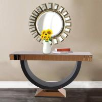 Buy cheap Wholesale Living Room Furniture Mirrored Console Table Round Wall Mirror Matching Hallway Table for Home Hotel from wholesalers