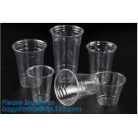 Buy cheap Elegant Shape Drinking Straw Promotional Cups With Straws Single Wall Plastic Cup,double wall custom plastic cups no min from wholesalers