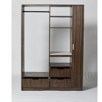 Buy cheap 3 Drawers Hotel Room Wardrobe With Stainless Steel Rod And 2 Shelves Closet from wholesalers