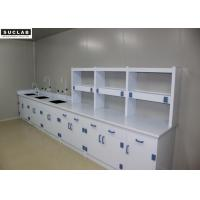 Buy cheap PP Drawer Science Lab Tables With Sinks , Adjustable Lab Bench Epoxy Resin Countertops from wholesalers