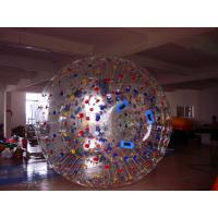Great Fun Transparent Zorb Ball with Color Dots for Amusement Park