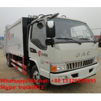 Buy cheap New JAC 4*2 new garbage compactor bin lifter rubbish truck 5cbm capacity,customized JAC 5m3 compression garbage truck from wholesalers