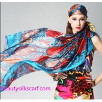 Buy cheap 140cm square silk scarf, Chiffon silk scarves,100% pure silk stoles from wholesalers