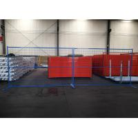 Buy cheap Galvanized Construction Site Fencing Strong Strength With Concrete Stands from wholesalers