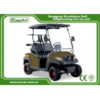 China Right Hand Steering Brown 48V AC motor Electric Golf Buggy EXCAR golf cart on sale