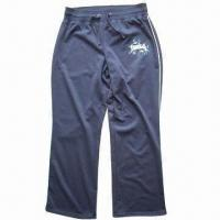 Buy cheap Ladies knitted pants, made of 65% polyester and 35% cotton from wholesalers