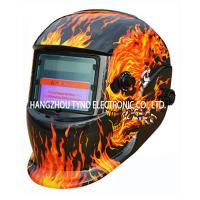 Buy cheap CE Welding Helmets Blue Skull Design with Auto darkening Filter from wholesalers