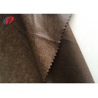 Buy cheap 100% Polyester Fake Leather Sofa Fabric , Warp Knitted Faux Suede Fabric from wholesalers