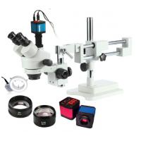 Buy cheap High Resolution Trinocular Stereo Industrial Microscope with 14MP HDMI HD Camera from wholesalers