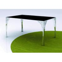 Buy cheap Traditional Black Metal Top Custom Made Dining Tables Commercial Furniture from wholesalers