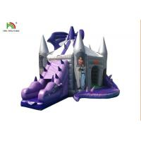 Buy cheap Customized Purple Dragon Inflatable Jumping Castle With Slide For Kids from wholesalers