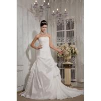 Wholesale Grace Strapless Long Train Taffeta Ball Gown Wedding Bridal Gown With Lace Applique from china suppliers