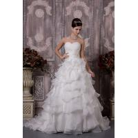 Wholesale Gorgeous Strapless Sweetheart Organza Ivory Wedding Bridal Gown With Beads from china suppliers
