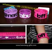 Buy cheap 1 inch Colour and special logo printed silicone slap bracelets/ papa wristband from wholesalers