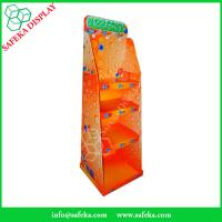 Buy cheap China Manufacturer Paper material shelf cardboard floor standing display units with hooks from wholesalers