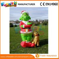 Buy cheap Mini Oxford cloth Green Airblown Inflatable Grinch Inflatable Christmas Grinch With Dog from wholesalers