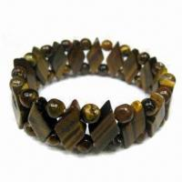 Buy cheap Natural/tiger eye stone bracelet, OEM orders are welcome from wholesalers