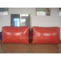 Red Inflatable Paintball Bunker BUN09 with Flexible and Durable Anchor Strings Manufactures