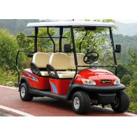 Buy cheap Red Color 4 Seater Golf Cart Electric Car , Electric Street Legal Vehicles from wholesalers