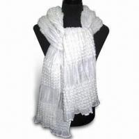 Wholesale Polyester Scarf, Available in Various Designs, Weighs 140g from china suppliers