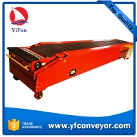 Buy cheap 3 Sections Telescopic Belt Conveyor for 20 ft container loading & unloading product