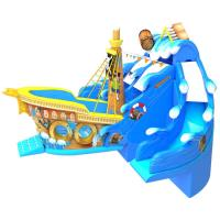 Buy cheap Large Size Commercial Inflatable Water Slides , Bouncy Pirate Ship Water Slide from wholesalers