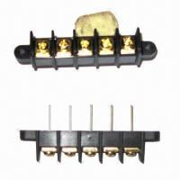 Buy cheap Barrier insulated terminal block with 9.5mm pitch, 300 rated voltage from wholesalers
