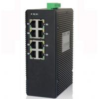 Buy cheap 8-port unmanaged 10/100/1000M industrial Ethernet switch, DIN rail, double power supply from wholesalers
