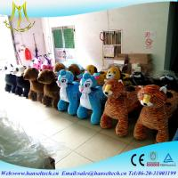 China Hansel playground equipment rocking stuffed animal scooter ride electric octopus riding cow toys for kids unicorn coin on sale