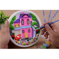 Buy cheap Educational Kids Arts And Crafts Toys Miraculous 3D Gypsum Clock Painting Set from wholesalers