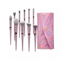 Wholesale Synthetic Hair Makeup Foundation Brush Sets Plastic Handle Aluminum Ferrule from china suppliers