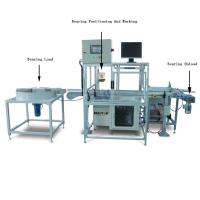 Automatic Fiber Metal Laser Marking Machine for Bearings Marking , Integrate Double Air Cylinder'