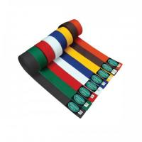 Buy cheap Customized Black , Red , Orange Judo  Belt color belts in martial arts from wholesalers