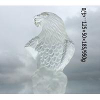 Buy cheap Transparent Crystal Eagle Decorative Glass Craft Custom Color Elegant Bird Gift from wholesalers