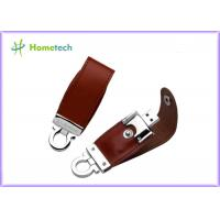 Buy cheap Brown / Black Customized Leather Usb Flash Drives 1GB , 2GB , 8GB from wholesalers