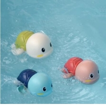 Buy cheap Newborn Infant Clockwork Bathtub Toys Bathroom Wind Up Chain Swim Cartoon Tortoise Turtle Water Floating Baby Shower Bat from wholesalers