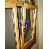 Buy cheap Energy Saving Triple Glazed Aluminium Clad Wood Windows with grids for UAE market from wholesalers
