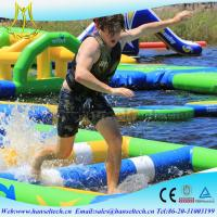 Buy cheap Hansel popular happy hop inflatable water slide in the lake or sea from wholesalers