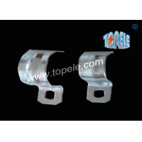 China 1/2 - 4 Inch ,  IMC Conduit And Fittings  Zinc Plated Steel conduit strap  / One Hole Conduit Pipe Clamp on sale