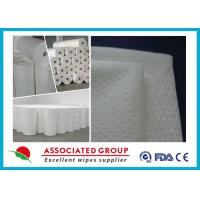 Extra Soft Hydrophilic White Spunlace Nonwoven Fabric No Chemical binder Manufactures