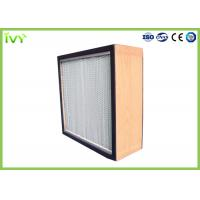 Wholesale H10 - H14 HEPA Air Filter Deep Pleat Type Uniform Distribution Of Airflow from china suppliers