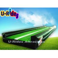 China 0.55mm PVC 14m Long Green and Black Inflatable Gymnastics Air Track on sale