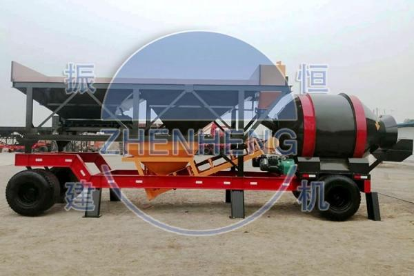 Quality YHZM30 Mini Mobile Concrete Batching Plant For Easy Transportation for sale