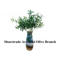 Wholesale Green Fake Tree Branches With Leaves Artificial Olive Branch Indoor Decor from china suppliers