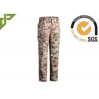 Wholesale Multicamo Military Combat Trousers With Cargo Pockets Quick Dry Scratch Resistant from china suppliers