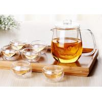 Buy cheap Drinkware Type Glass Teapot With Infuser Customized Decal ISO9001 Approved from wholesalers