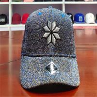 Buy cheap ACE Flower Pattern Glitter Cloth Embroidered Baseball Caps Metal Thread Baseball Curve Brim Cap from wholesalers